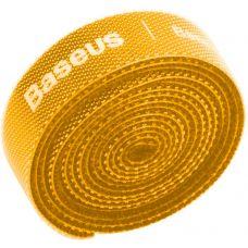 Органайзер проводов Baseus Rainbow Circle Velcro Straps 1m Yellow