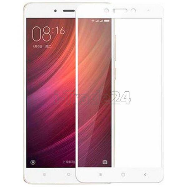 Защитное стекло полного покрытия для Xiaomi RedMi Note 4X белое