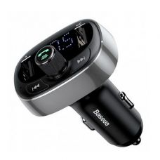 Автомобильная зарядка Baseus T typed Bluetooth MP3 charger with car holder Silver