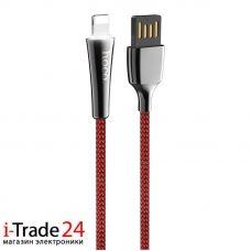 Дата-кабель Hoco U41 Lightning, красный