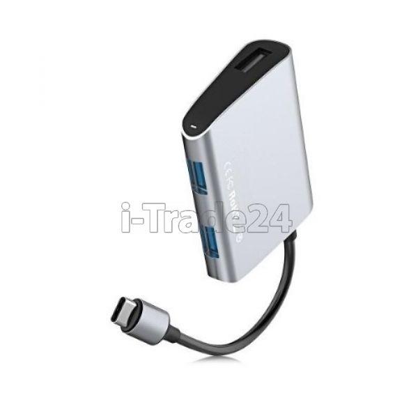 Адаптер Baseus Enjoyment series Type-C to 2 x USB 2.0+USB 3.0 HUB Adapter Gray