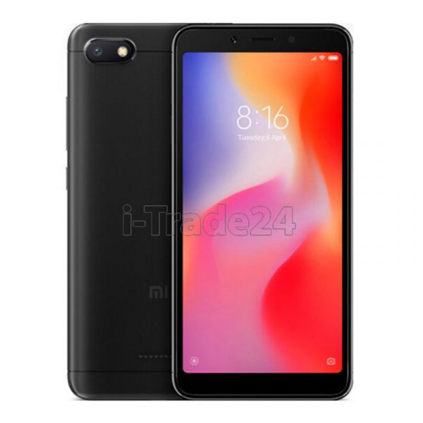 Xiaomi Redmi 6A 16Gb+2Gb Dual LTE (black/черный) Global Version
