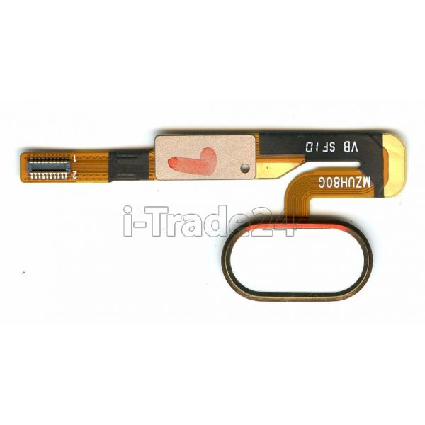 Кнопка Home Meizu Pro 6 золотая