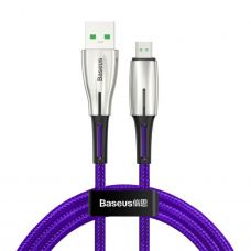 Кабель Baseus Waterdrop Cable USB For Micro 4A 1m Purple
