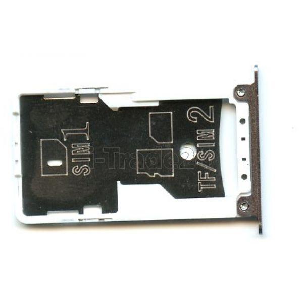 SIM лоток Xiaomi RedMi Note 4X серебро