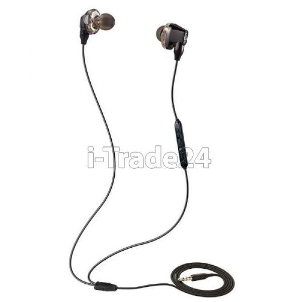 Наушники Baseus Encok H10 Dual Dynamic Wired Headset 3.5mm Black