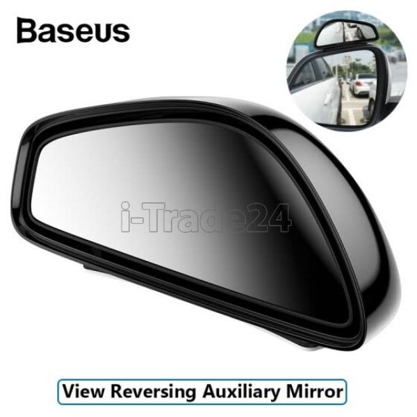 Широкоугольное зеркало заднего вида Baseus Large View Reversing Auxiliary Mirror Black