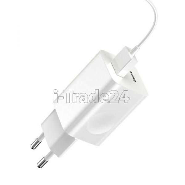 Сетевая зарядка Baseus Charging Quick Charger 3А Max EU White