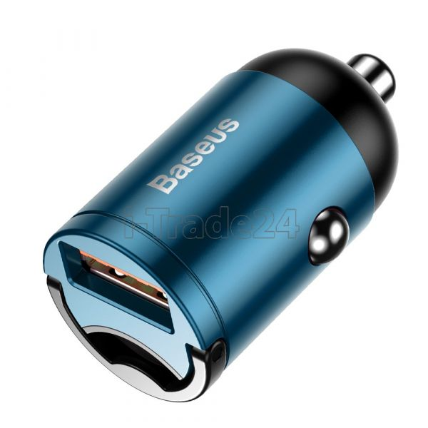 Автомобильная зарядка Baseus Tiny Star Mini Quick Charge Car Charger USB Port 30W Blue