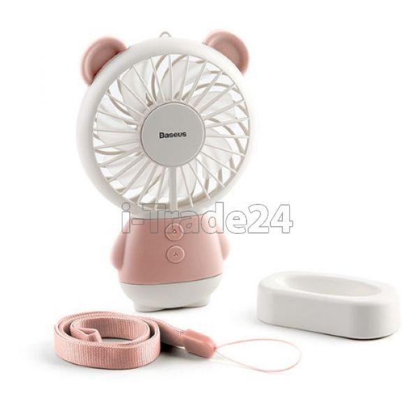 Настольный вентилятор Baseus Dharma bear Fan Pink