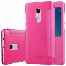 Чехол-книжка Nillkin Sparkle Series с окошком для Xiaomi Redmi Note 4 (pink/розовый)