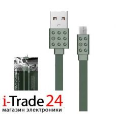 Дата-кабель Proda PC-01 USB-C 1 метр, зеленый