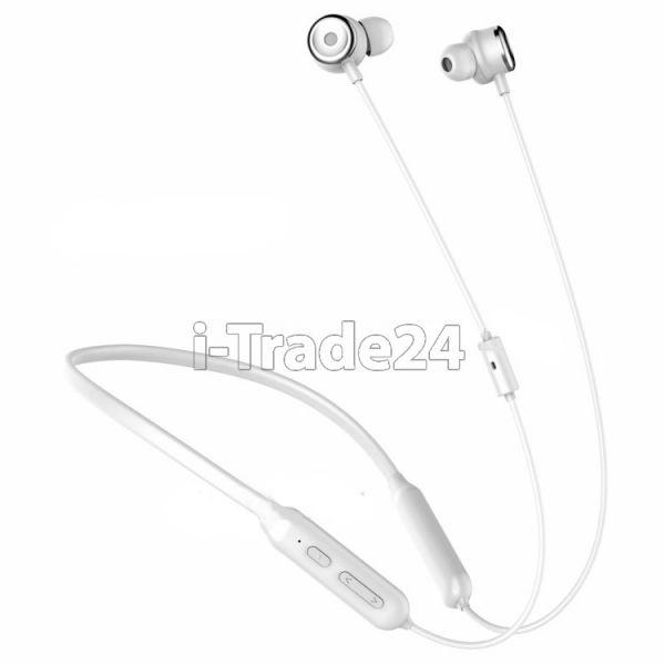 Беспроводные Bluetooth наушники Baseus SIMU Active Noise Reduction Wireless earphone S15 White