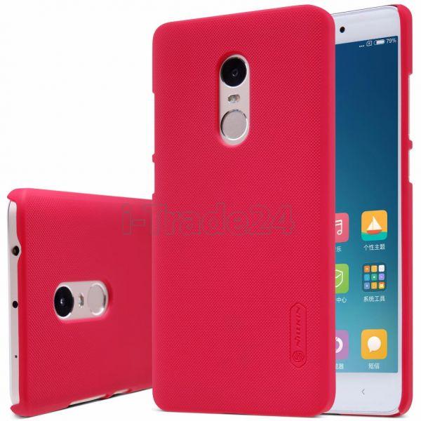Чехол-накладка Nillkin Frosted Shield для Xiaomi RedMi Note 4 (red/красный)