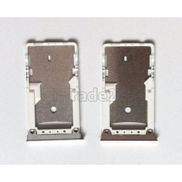 SIM лоток Xiaomi Mi Max серебро