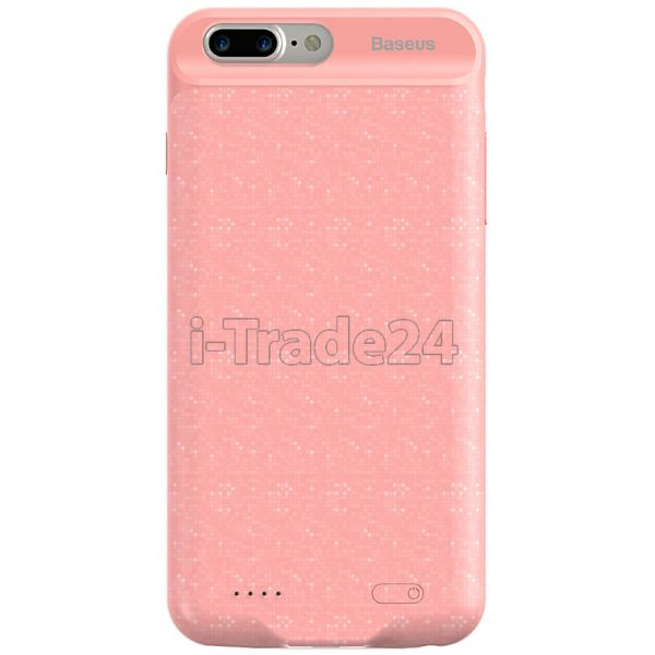 Чехол для iPhone Baseus Plaid Backpack Power Bank Case 3650MAH For iPhone7/iPhone8 Plus Pink