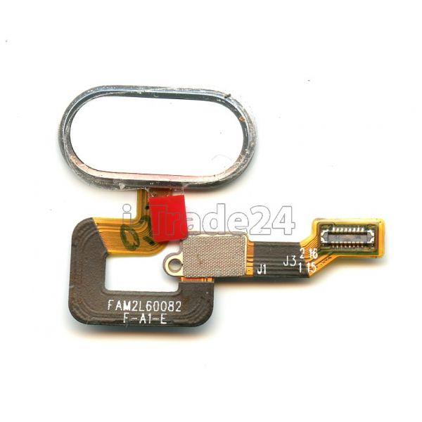 Кнопка Home Meizu M3 Max серебристая