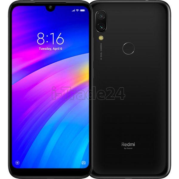 Смартфон Xiaomi Redmi 7 2/16Gb Dual LTE (black/черный) Global Version