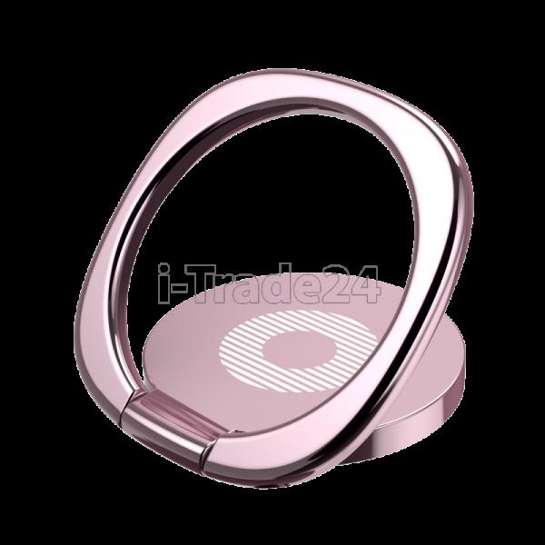 Кольцо-держатель Baseus Privity Ring Bracket Rose Gold