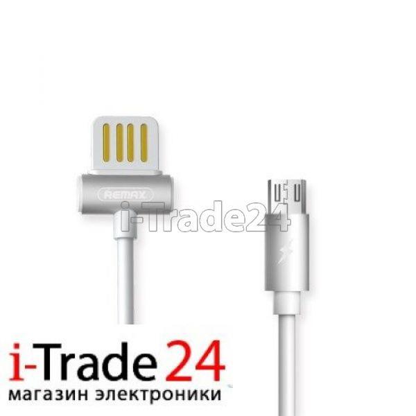 Дата-кабель Remax RC-082m micro-USB 1 метр, белый