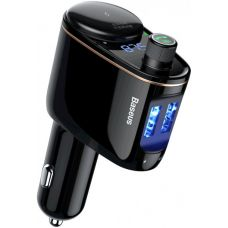 Автомобильная зарядка Baseus Locomotive Bluetooth MP3 Vehicle Charger Black