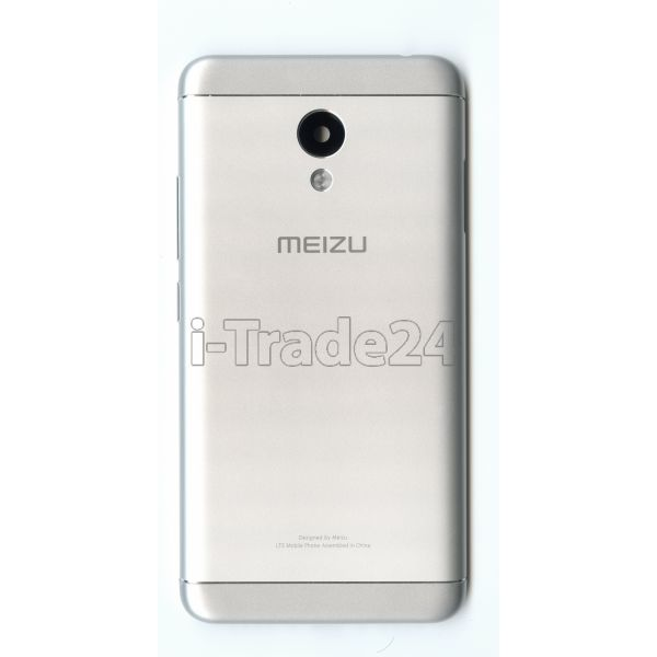 Задняя крышка для Meizu M3S серебристая