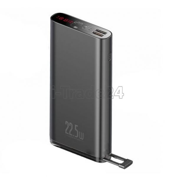 Аккумулятор Baseus Starlight Digital Display Quick Charg Power Bank 20000mAh 22.5W Black