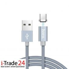 Дата-кабель USB - Type-C Hoco U40A Magnetic Adsorption, 1 м