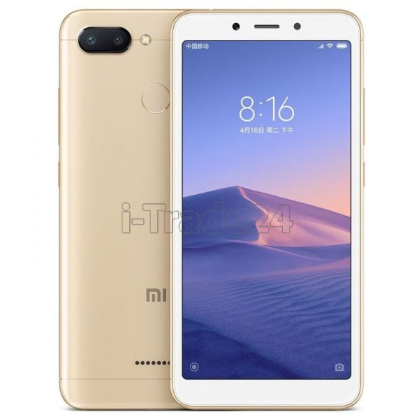 Xiaomi Redmi 6 3/32GB Dual LTE (gold/золотой) Global Version