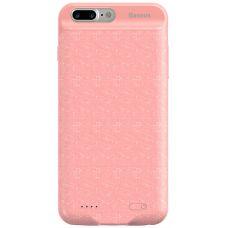 Чехол для iPhone Baseus Plaid Backpack Power Bank Case 7300MAH For iPhone6/6S Plus Pink