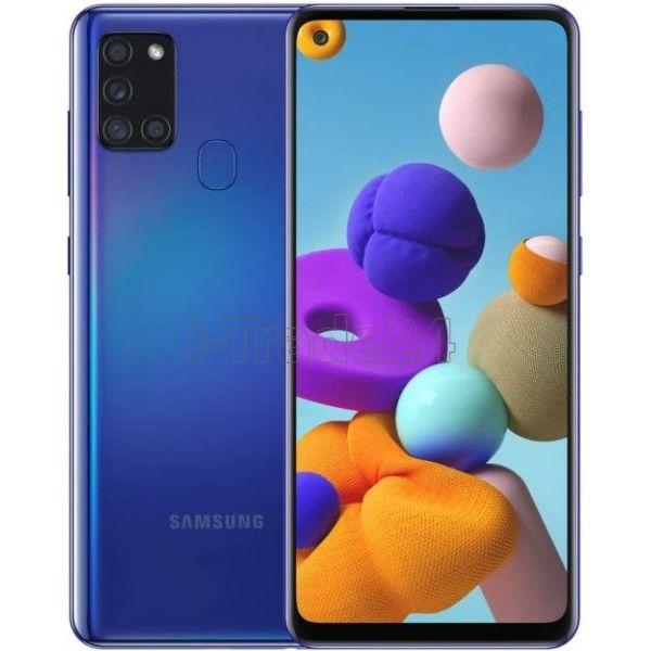Смартфон Samsung Galaxy A21s 3/32GB Синий (Blue)