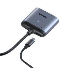 Адаптер Baseus Enjoy HUB Adapter from Type-C to HDMI 2x PD HD / Type-C Grey