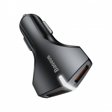 Автомобильная зарядка Baseus Small Rocket QC3.0 Dual-USB Car Charger Black