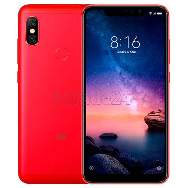 Xiaomi Redmi Note 6 Pro 32Gb+3Gb Dual LTE (red/красный) Global Version
