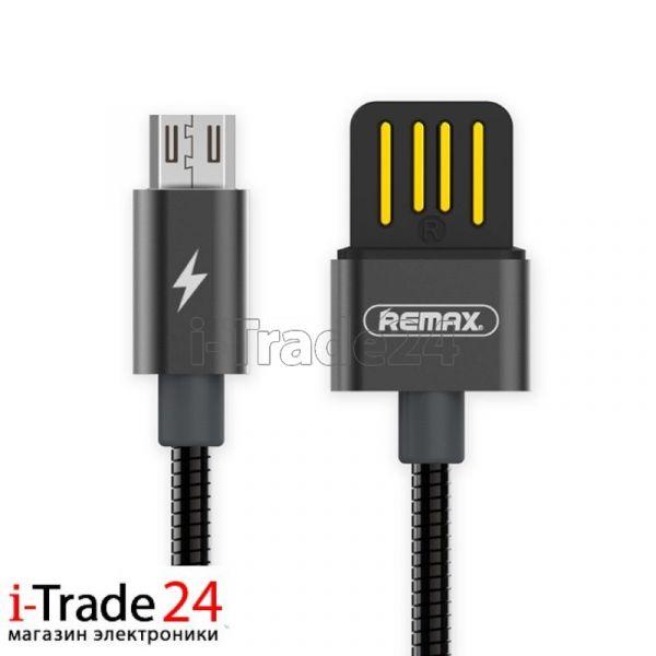Дата-кабель Remax RC-082m micro-USB 1 метр, черный