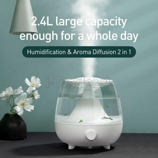 Ультразвуковой увлажнитель воздуха Baseus Surge 2.4L desktop humidifier(EU)White
