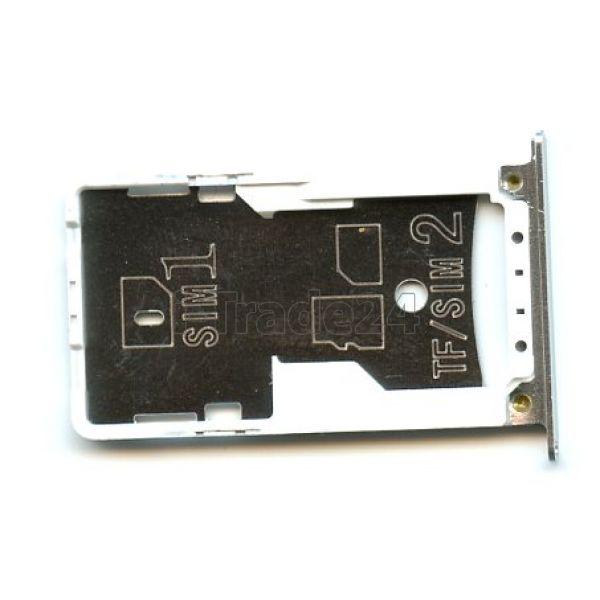 SIM лоток Xiaomi RedMi Note 4 серебристый