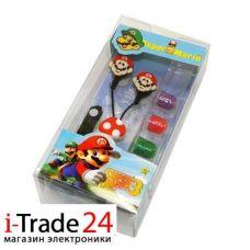 Детские вакуумные наушники Super Mario