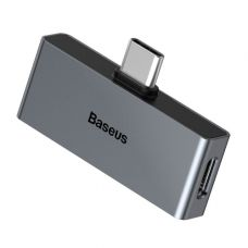 Адаптер Baseus Type-C Male to C & 3.5mm Female Adapter L57 Tarnish