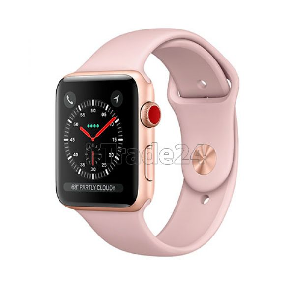 Apple Watch Series 3 42mm Gold Aluminum Case with Pink Sport Band