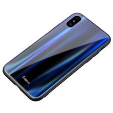 Чехол для телефона iPhone X Baseus Laser Luster Glass Case