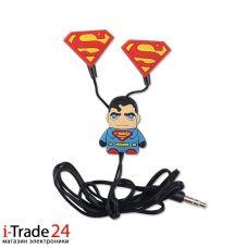 Детские вакуумные наушники Superman