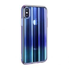 Чехол для Apple iPhone Baseus Aurora Case For iPXSm 6.5(2018) Transparent Blue