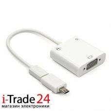 Адаптер переходник MHL Micro USB в VGA + Audio Adapter