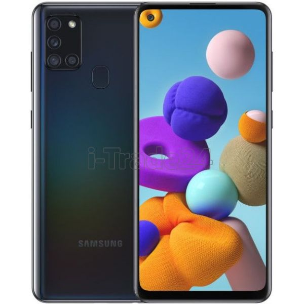 Смартфон Samsung Galaxy A21s 4/64GB Черный (Black)