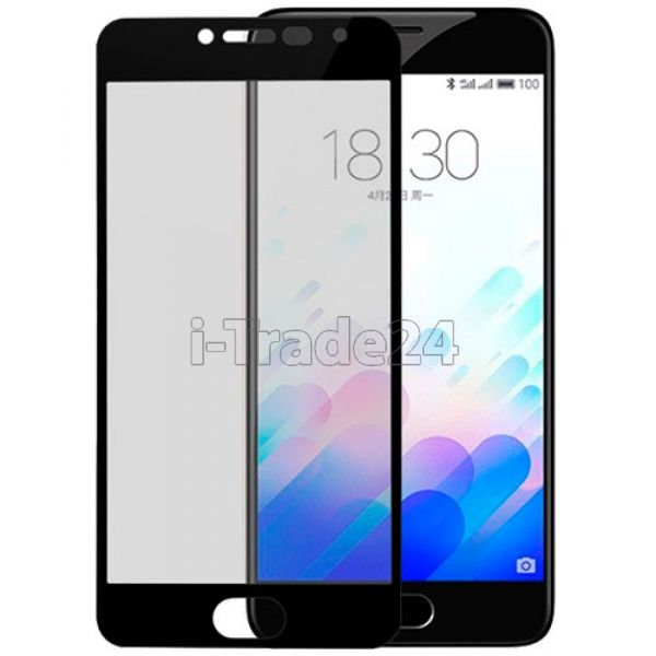 Защитное стекло полного покрытия для Meizu PRO 6 Plus черное