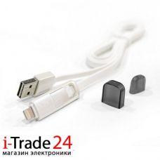 Дата-кабель Remax 2 в 1 Lightning + micro-USB