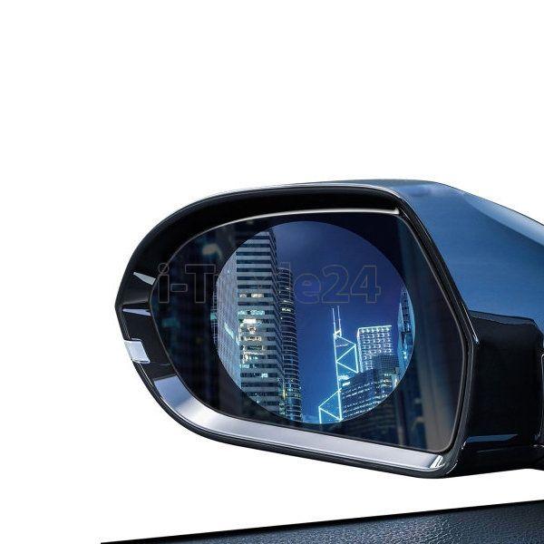 Водонепроницаемая пленка для стекла заднего вида Baseus 0.15mm Rainproof Film for Car Rear-View Mirror (Round 2 pcs/pack 80*80mm)Transparent