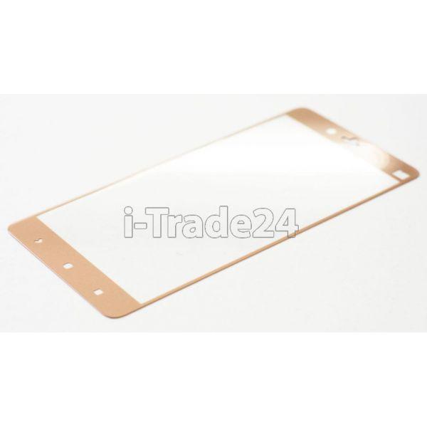 Защитное стекло полного покрытия для Xiaomi Mi Note золотое