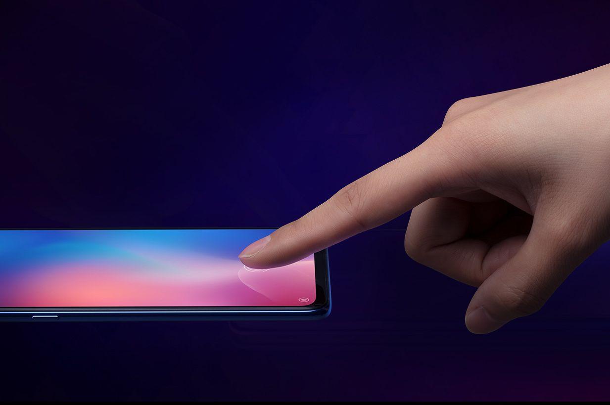 Xiaomi Mi9 сканер отпечатка